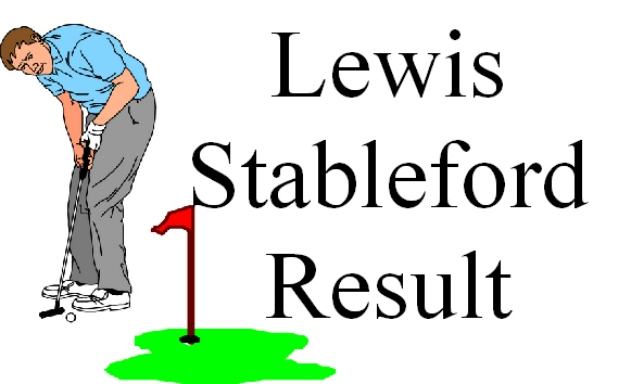 LEWIS STABLEFORD BACK 9  MAY 1ST